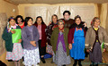 Mapuche women learning how to manage a business from a teacher o