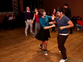 PittStop Lindy Hop swing dance in the Pittsburgh Opera's practice space
